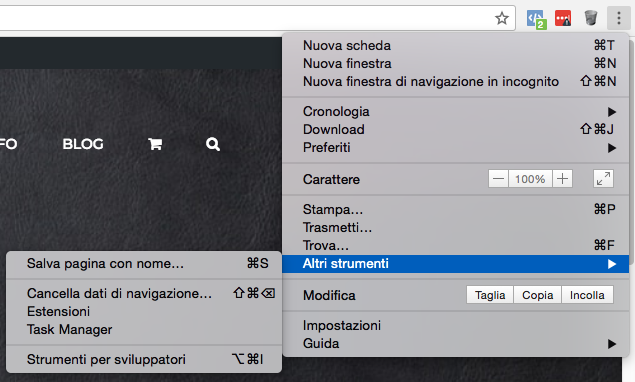 come svuotare le cache del browser con Google Chrome